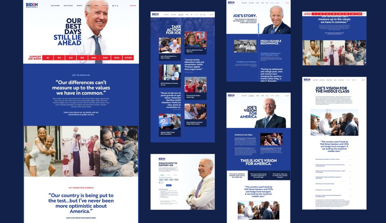 Joe Biden website design