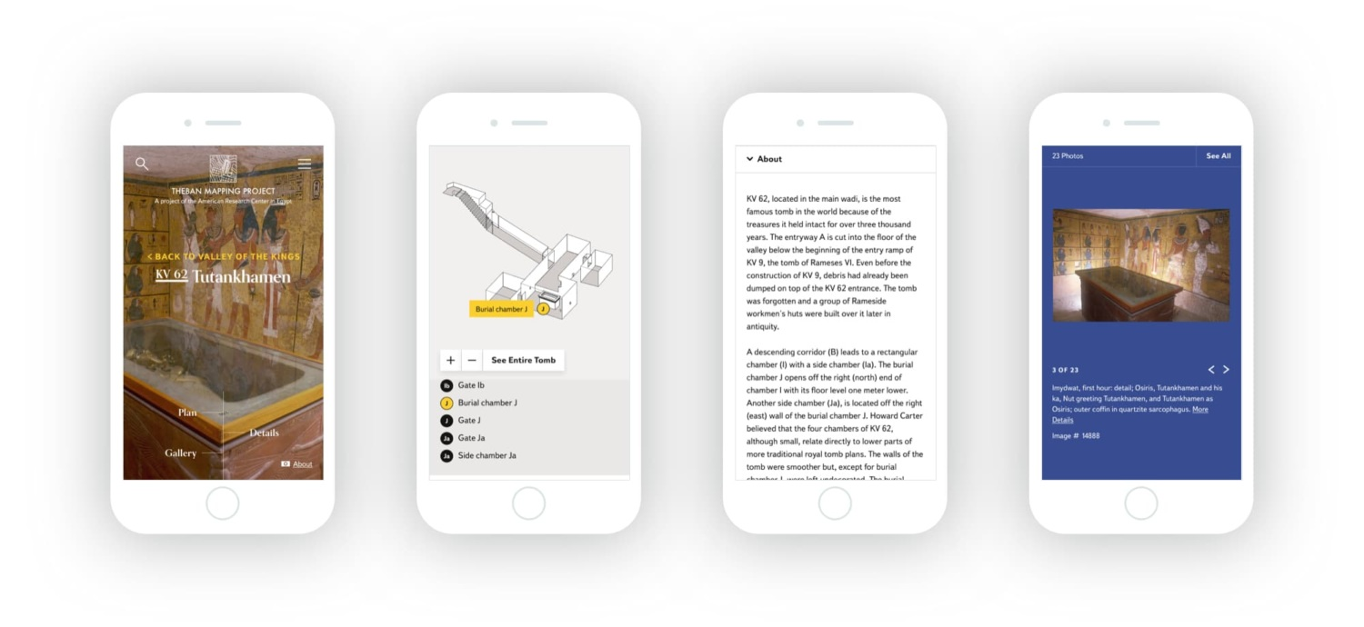 Mobile versions of the tomb page