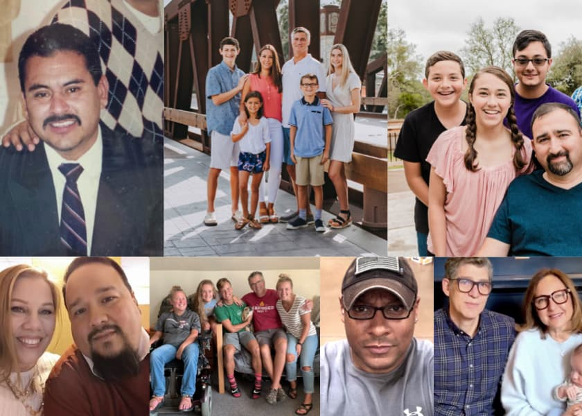 Collage of diverse people impacted by ALS