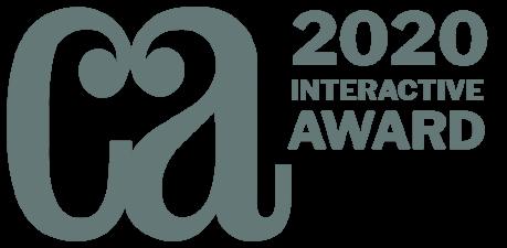 Communication Art logo next to the words: 2020 Interactive Award