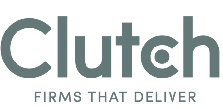 Clutch logo above the words: Firms that Deliver